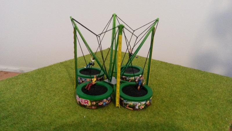 maquette H0 Trampoline Jumper Fantaisyland
