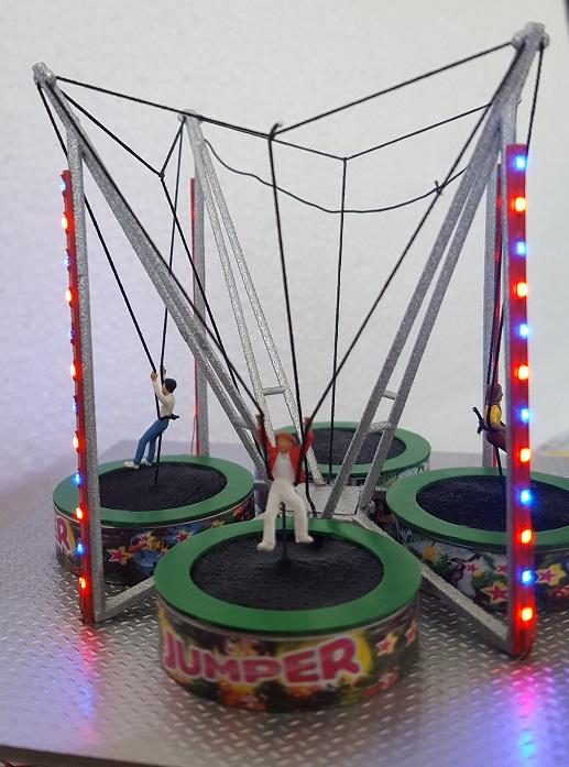 Manège trampoline