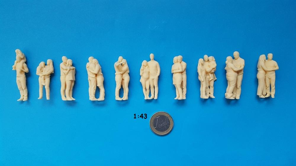 figurine couple 1/43