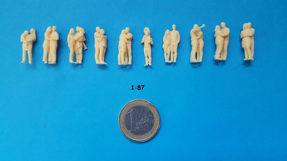 figurine couple H0