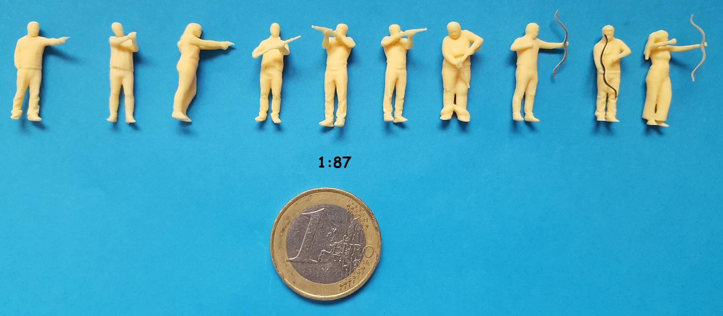 Figurine stand de tir H0