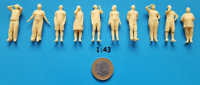 figurine regard en hauteur 1/43ème