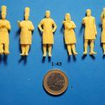 Figurines cuisiniers 1/43 ème