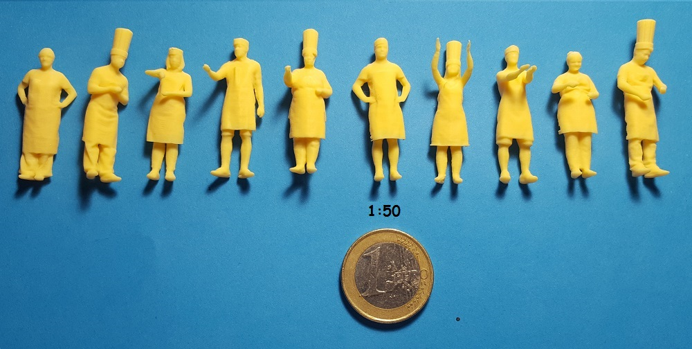 Figurines cuisiniers 1/50 ème
