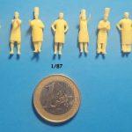Figurines cuisiniers 1/87 ème
