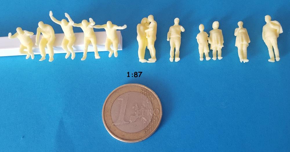 Figurines mixte fête foraine H0